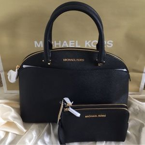 NWT Michael Kors Black Crossbody Bag & Wallet Set